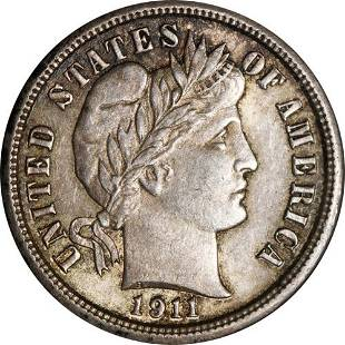 Authentic 1911-P Barber Dime Great Deals From The