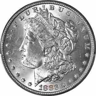 Authentic 1883-P Morgan Silver Dollar PCGS MS64 Superb