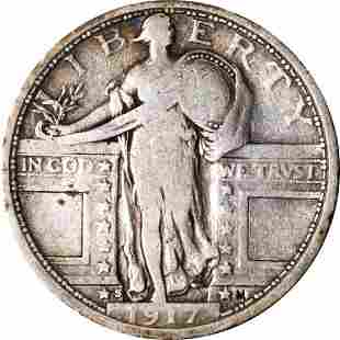 Authentic 1917-S Type 1 Standing Liberty Quarter Great