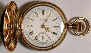 Authentic Elgin Multi-Color Dial Pocket Watch 18 Size