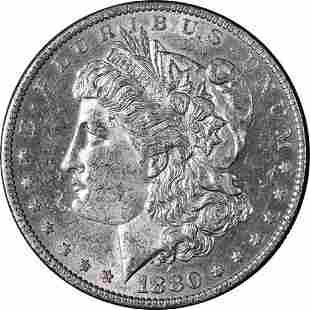 Authentic 1880-O Morgan Silver Dollar Nice BU+ Blast