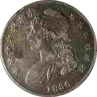 Authentic 1836/1336 Bust Half Dollar Nice XF Details
