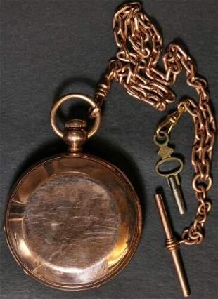 Authentic Illinois Model 1 Key Wind Pocket Watch 18