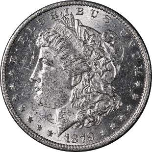 Authentic 1879-O Morgan Silver Dollar Nice BU+ Blast
