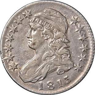 Authentic 1813 Bust Half Dollar Nice XF 0-103 R.2 Nice