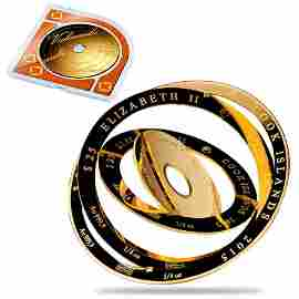 2015 Cook Islands 1 oz Gold Valcambi Armillary Sphere