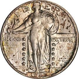 Authentic 1926-D Standing Liberty Quarter Choice BU+