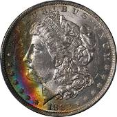 Authentic 1882-O Morgan Silver Dollar Gorgeous Rainbow