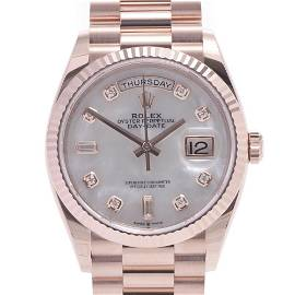 Authentic ROLEX Day-Date 36 10P diamond 128235A men's