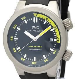 Authentic IWC Aquatimer Automatic Titanium Men's Sports