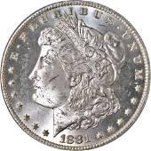 Authentic 1881-CC Morgan Silver Dollar PCGS MS64 Blast