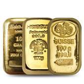 100 gram Generic Gold Bar .999+ Fine (Secondary Market)