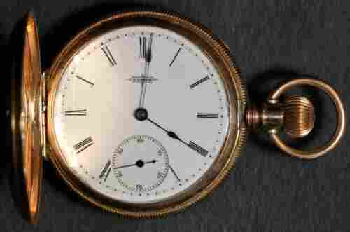 Authentic Elgin Pocket Watch 6 Size 14k Hunting - Not