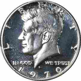Authentic 1970-S Kennedy Half Dollar Proof Doubled Die