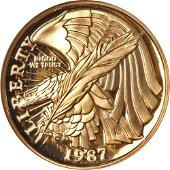 Authentic 1987-W Constitution Commemorative Gold $5 NGC