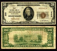 Authentic Pittsburgh PA $20 1929 T-1 National Bank Note