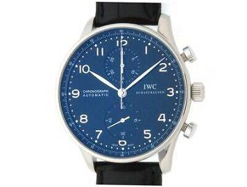 Authentic IWC Portugieser Chronograph IW371447 SS
