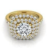 1 3/4ctw Round Diamond Double Entourage Engagement Ring
