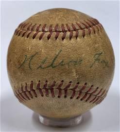Rare Nelson Nellie Fox Single Signed Baseball. JSA