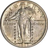 Authentic 1917-P Type 2 Standing Liberty Quarter Choice