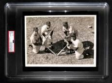 1956 Brooklyn Dodgers Infielders Original Photo. United