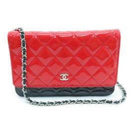 Authentic CHANEL Wallet on Chain   Enamel