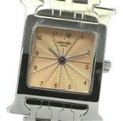 Authentic Hermes H Watch HH1.210 Quartz Stainless