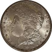 Authentic 1887-S Morgan Silver Dollar NGC MS64 Redfield