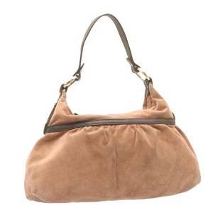 Authentic FENDI Suede Shoulder Bag Pink