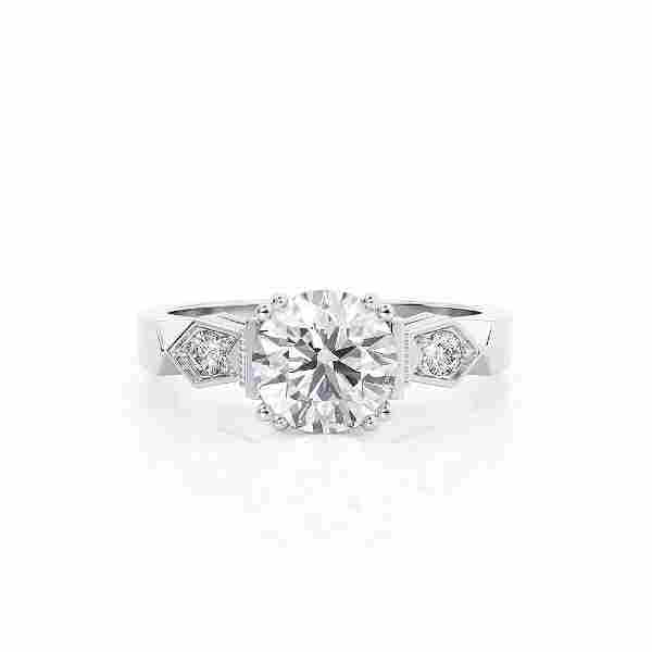 Diamond Ring .6 Ct TCW Gold 8K 3.90 g