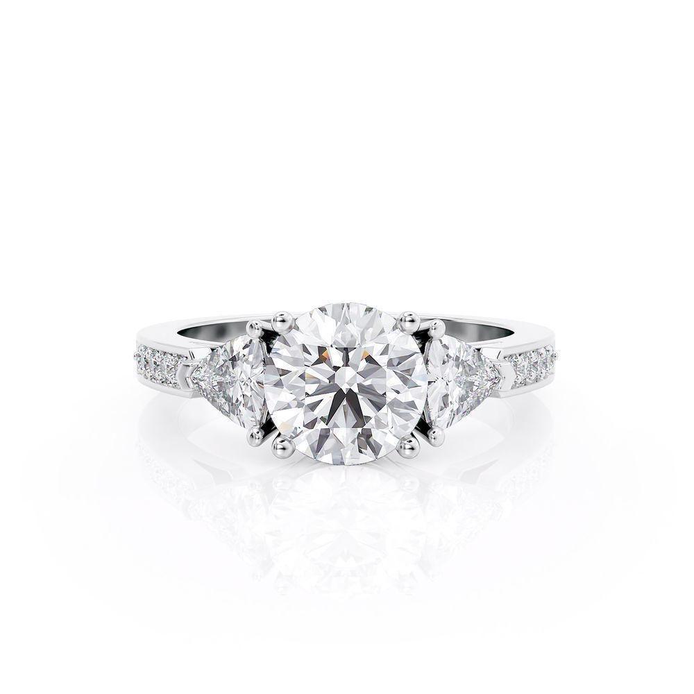 Diamond Ring .4 Ct TCW Gold 8K 3.00 g