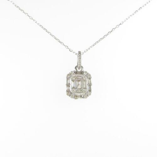 Authentic K18 White Gold Diamond necklace