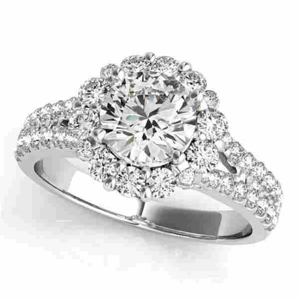1.76 ctw Certified VS/SI Diamond Halo Ring 18k White