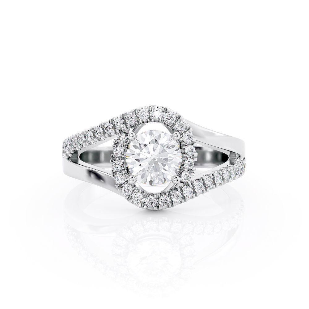 Diamond Ring 0.95 Ct TCW Gold 8K 2.50 g