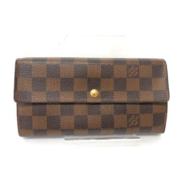 Authentic Louis Vuitton Damier Portofeuil Sara N61734