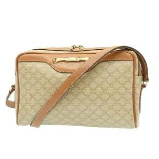 Authentic CELINE Macadam Canvas Shoulder Bag PVC