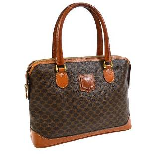 Authentic CELINE Macadam Pattern Hand Bag