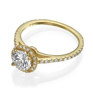 Diamond Ring .65 Ct TCW Gold 8K 2.80 g