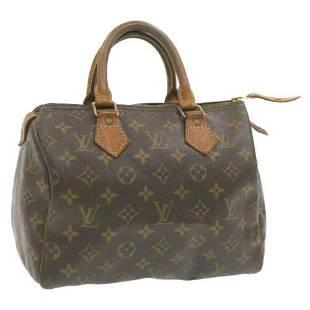 Authentic LOUIS VUITTON Monogram Speedy 25 Hand Bag