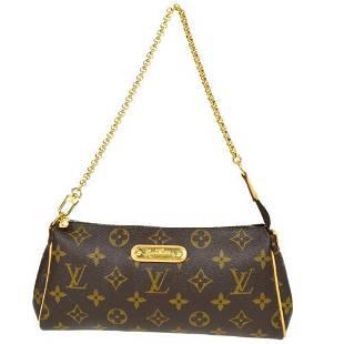 Authentic LOUIS VUITTON EVA 2WAY CHAIN HAND BAG POUCH