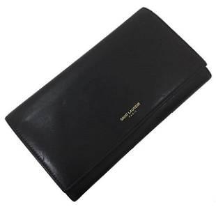 Authentic Yves Saint Laurent Paris bi-fold wallet black