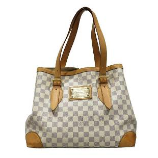 Authentic LOUIS VUITTON Hamstead MM Tote Bag Ladies