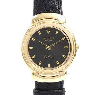Authentic ROLEX Cellini 750 Gold Battery Operated Mens