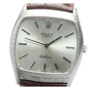 Authentic Rolex Cellini 3805 Manual winding Silver