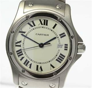 Authentic Cartier Santosukugar MM Quartz Boys SS