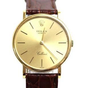 Authentic ROLEX Cellini 18K Men's Watch Manual winding