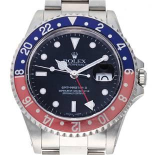 Authentic Rolex GMT Master II No. A 1999 Men's Watch