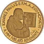 Authentic 1996 Vatican 100 000 Lire Proof Gold