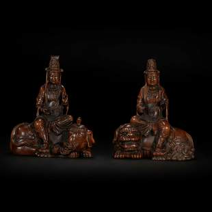 Wood Carved Buddha Statue from Qing