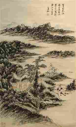 Ink Painting of Landscape from HuangBinHong